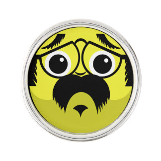 Concerned Face Lapel Pin