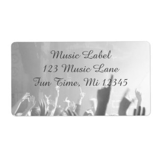 Concert Audience Grey & Black Music Celebration Shipping Label