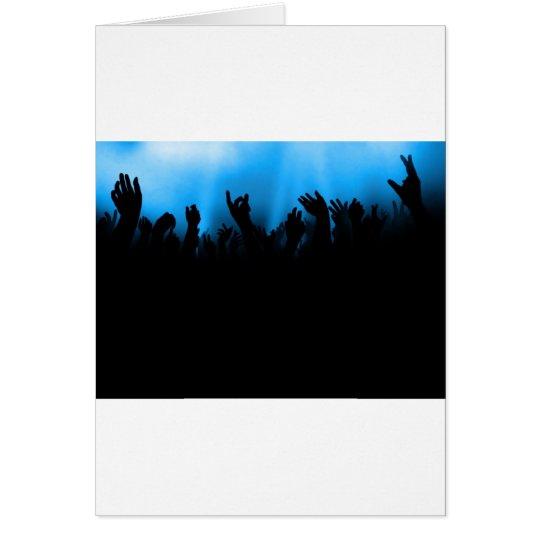 Concert Crowd Card