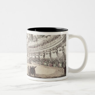 Concert Hall in Venice, 18th century (coloured eng Two-Tone Coffee Mug