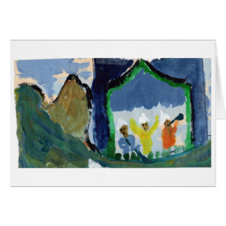 Concert in the mountains note card (blank)