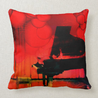 Concert piano throw pillow