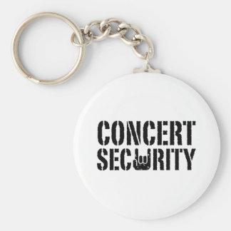 Concert Security Basic Round Button Keychain