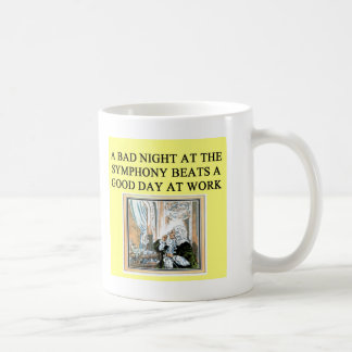 concerts beat work classic white coffee mug