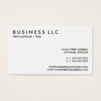 concevez vos propres : raffinez noir et blanc. cartes de visite