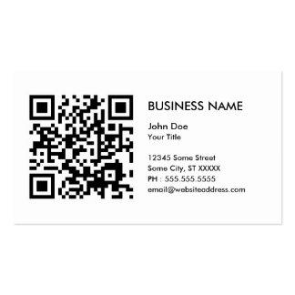 concevez votre propre code de QR Carte De Visite Standard