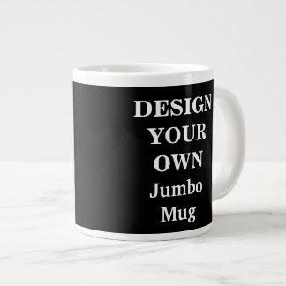 Concevez votre propre tasse enorme - noir mug jumbo
