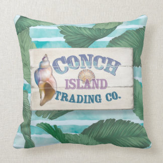 Conch Island Throw Pillow
