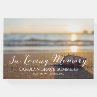 Conch on Beach In Loving Memory Guest Book