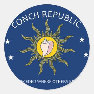 Conch Republic Round Sticker