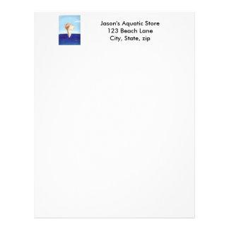 Conch Sea Shell Ocean Painting letterheads Letterhead Design