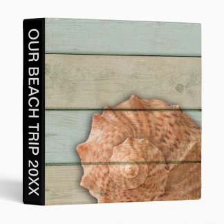 Conch Shell 3 Ring Binder