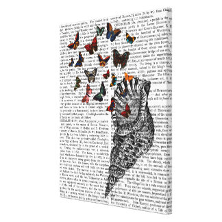 Conch Shell and Butterflies Canvas Print