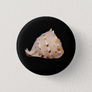 Conch Shell Badge 1 Inch Round Button