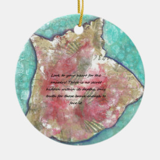Conch shell ceramic ornament