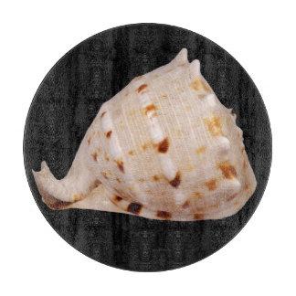 Conch Shell Glass Chopping Board