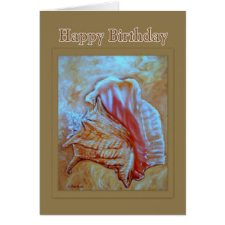 Conch Shell Happy Birthday Card