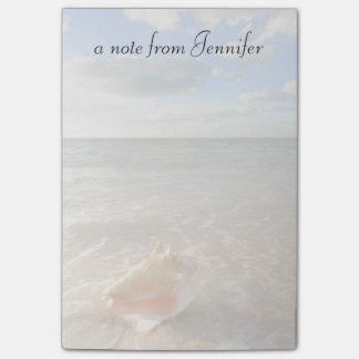 Conch Shell In Sand On Tropical Beach Post-it Notes