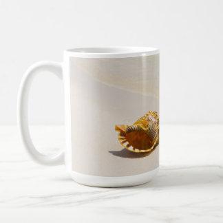 Conch Shell On Beach 3 Coffee Mug