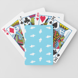 Conch Shells on Aqua Bicycle Playing Cards