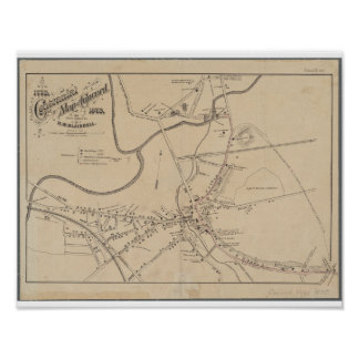Concord MA Historical Map 1875 Poster