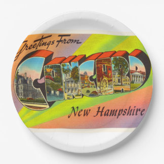 Concord New Hampshire NH Vintage Travel Souvenir 9 Inch Paper Plate