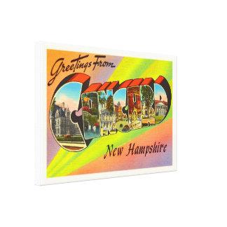 Concord New Hampshire NH Vintage Travel Souvenir Canvas Print