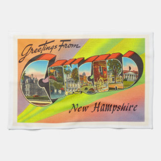 Concord New Hampshire NH Vintage Travel Souvenir Hand Towels