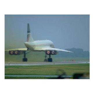 Concorde takes off, full afterburner postcard