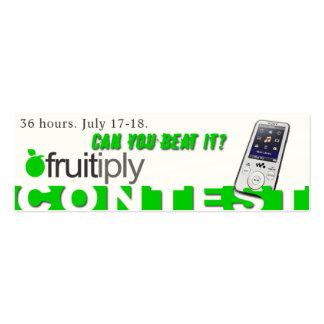 Concours de Fruitiply Modèles De Cartes De Visite