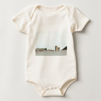 Concrete and sand baby bodysuit