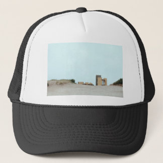Concrete and sand trucker hat