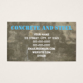 Concrete And Steel Business Card