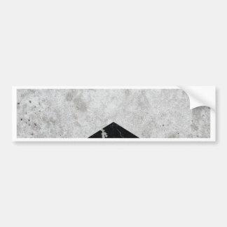 Concrete Arrow Black Granite #844 Bumper Sticker