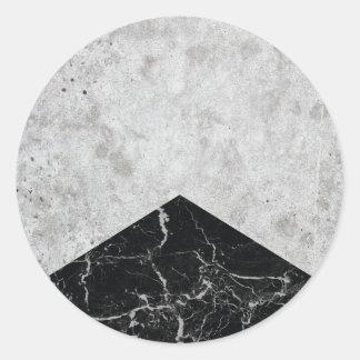 Concrete Arrow Black Granite #844 Classic Round Sticker