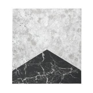 Concrete Arrow Black Granite #844 Notepad
