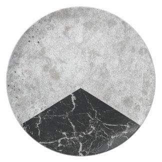 Concrete Arrow Black Granite #844 Plate