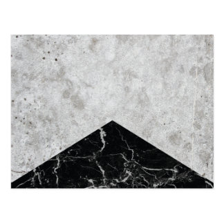 Concrete Arrow Black Granite #844 Postcard