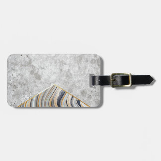 Concrete Arrow Blue Marble #177 Luggage Tag