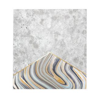 Concrete Arrow Blue Marble #177 Notepad