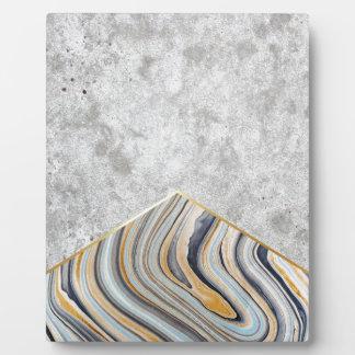 Concrete Arrow Blue Marble #177 Plaque