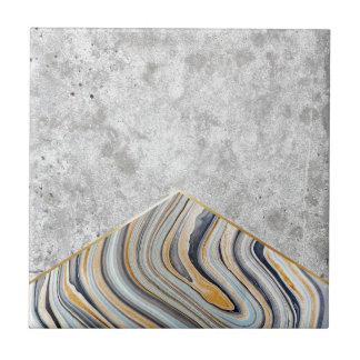 Concrete Arrow Blue Marble #177 Tile