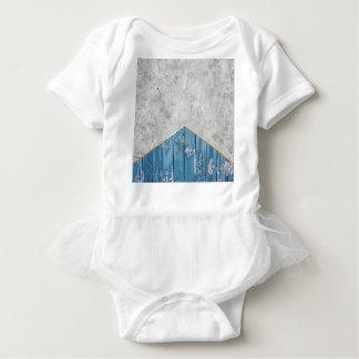 Concrete Arrow Blue Wood #347 Baby Bodysuit