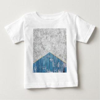 Concrete Arrow Blue Wood #347 Baby T-Shirt