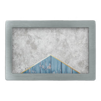 Concrete Arrow Blue Wood #347 Belt Buckle