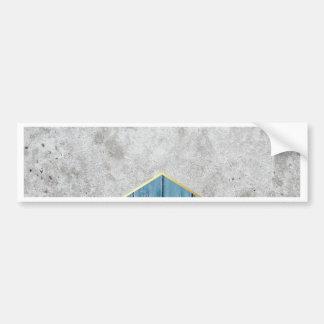 Concrete Arrow Blue Wood #347 Bumper Sticker