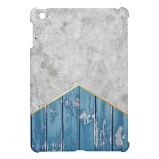Concrete Arrow Blue Wood #347 Case For The iPad Mini
