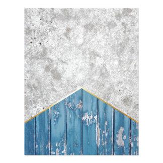 Concrete Arrow Blue Wood #347 Letterhead