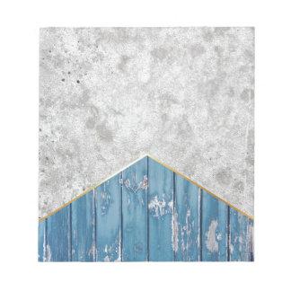Concrete Arrow Blue Wood #347 Notepad