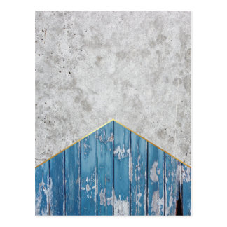 Concrete Arrow Blue Wood #347 Postcard